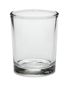 Tealight holder in glass, H: 6,5 cm, D: 4,5-5,5 cm, 120 ml, 12 pc/ 1 box