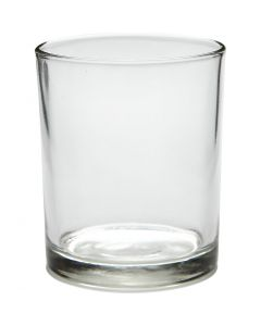 Tealight holder in glass, H: 8,4 cm, D: 7 cm, 240 ml, 12 pc/ 1 box