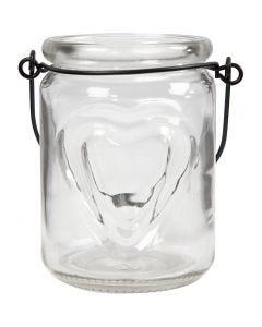 Lantern, H: 9,5 cm, D: 6,5 cm, 2 pc/ 1 pack