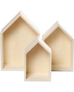 Storage Boxes, H: 20,3+25,3+31 cm, W: 13+16,2+20 cm, 3 pc/ 1 set