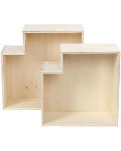 Storage Boxes, H: 27+31 cm, 2 pc/ 1 set