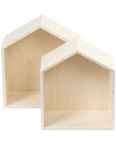 Storage Boxes, H: 22,5+25 cm, W: 19,5+22,5 cm, 2 pc/ 1 set