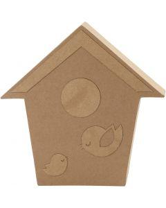 Bird House, H: 18 cm, depth 2,5 cm, 1 pc