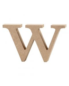 Letter, w, H: 8 cm, thickness 2 cm, 1 pc