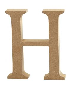 Letter, H, H: 8 cm, thickness 1,5 cm, 1 pc
