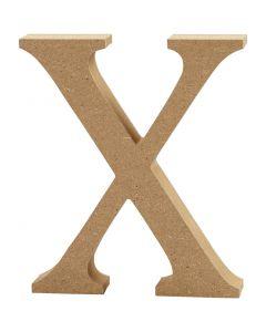 Letter, X, H: 8 cm, thickness 1,5 cm, 1 pc