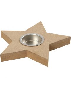 Tea Light Candle Holder, H: 18 mm, D: 15 cm, 1 pc