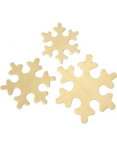 Snowflake, size 4-6 cm, 9 pc/ 1 pack
