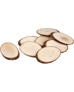 Wooden Discs, thickness 8 mm, Content may vary , 12 pc/ 1 pack