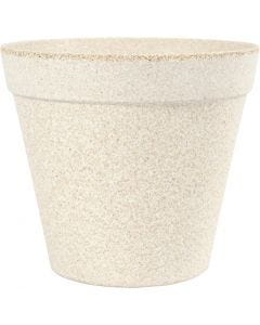 Flower pot, H: 13,5 cm, D: 15,2 cm, 1 pc