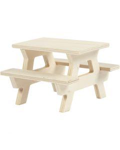 Picnic Bench, H: 5,5 cm, L: 8 cm, 1 pc