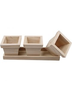 Flower Pot Set, size 27x9x9 cm, 1 set