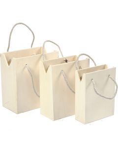 Bag With Handle, H: 12+14+16 cm, W: 16+16,5+18 cm, 3 pc/ 1 set