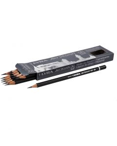 Art Design Drawing Pencils, D: 6,9 mm, hardness 3B, lead 1,8 mm, 12 pc/ 1 pack