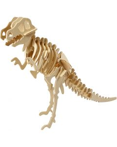 3D Wooden Construction Kit, dinosaur, size 33x8x23 cm, 1 pc