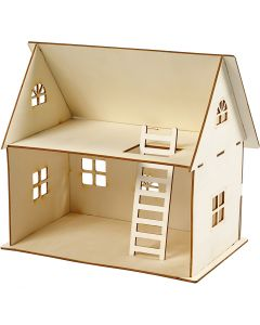 Doll house construction, H: 25 cm, size 18x27 cm, 1 pc