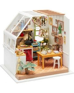 DIY Miniature Room, Kitchen, H: 18,7 cm, W: 19 cm, 1 pc