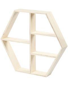 Wooden Shelf, H: 33,5 cm, W: 38,5 cm, 1 pc