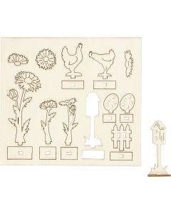 Self-assembly Figures, L: 15,5 cm, W: 17 cm, 1 pack