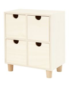 Chest of Drawers, H: 23 cm, W: 20 cm, 1 pc