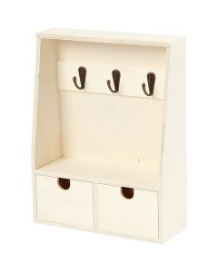Key cabinet, H: 28,5 cm, W: 22 cm, 1 pc