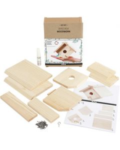 Bird box, H: 13 cm, W: 16 cm, 1 pc/ 1 pack