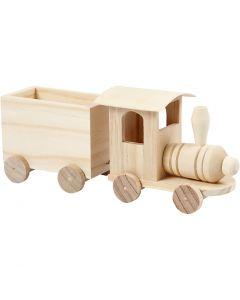 Toy train with carriage, H: 9,5 cm, L: 21,5 cm, W: 6,5 cm, 1 pc