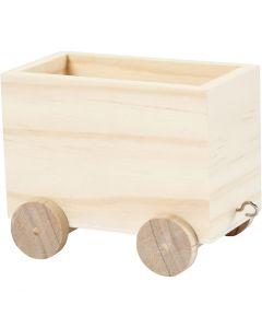 Train carriage, H: 8 cm, L: 9,5 cm, W: 6,5 cm, 1 pc