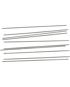 Metal Bar, L: 20 cm, D: 2 mm, 10 pc/ 1 pack