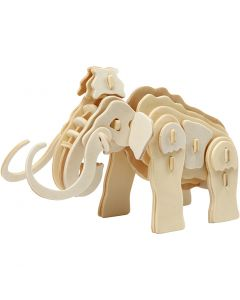 3D Construction figure, mammoth, size 19x8,5x11 cm, 1 pc