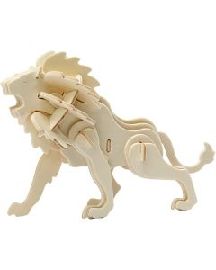 3D Construction figure, lion, size 18,5x7x7,3 , 1 pc
