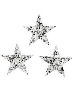Sequins, D: 18 mm, silver, 10 g/ 1 pack