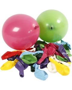 Balloons, Round, D: 23 cm, 100 pc/ 1 pack