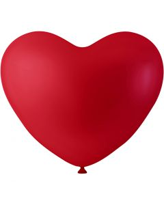 Balloons, hearts, red, 8 pc/ 1 pack