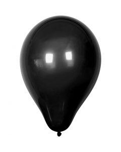 Balloons, D: 23 cm, black, 10 pc/ 1 pack