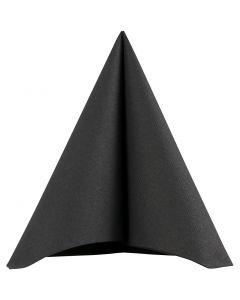 Table Napkins, size 40x40 cm, 60 g, black, 20 pc/ 1 pack