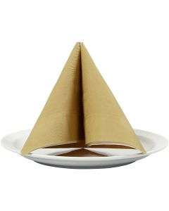 Table Napkins, size 40x40 cm, 60 g, gold, 20 pc/ 1 pack