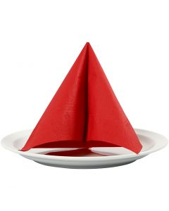 Table Napkins, size 33x33 cm, red, 20 pc/ 1 pack