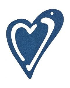 Heart, size 55x45 mm, dark blue, 10 pc/ 1 pack