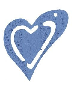 Heart, size 25x22 mm, light blue, 20 pc/ 1 pack