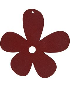 Flower, size 57x51 mm, claret, 10 pc/ 1 pack
