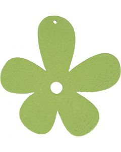 Flower, size 57x51 mm, lime green, 10 pc/ 1 pack