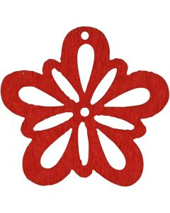 Flower, D: 27 mm, red, 20 pc/ 1 pack