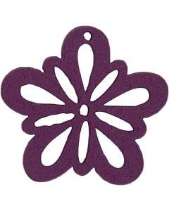 Flower, D: 27 mm, dark purple, 20 pc/ 1 pack