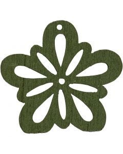 Flower, D: 27 mm, dark green, 20 pc/ 1 pack