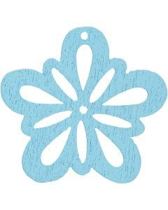 Flower, D: 27 mm, light turquoise, 20 pc/ 1 pack