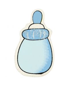 Milk Bottle, size 22x37 mm, light blue, 10 pc/ 1 pack