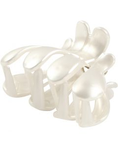 Hair Claw, L: 60 mm, W: 38 mm, mother-of-pearl, 2 pc/ 1 pack