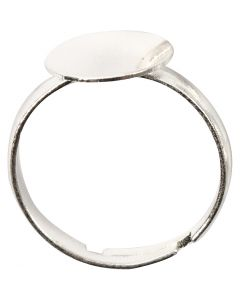 Finger Ring, silver-plated, 15 pc/ 1 pack