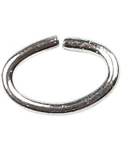 Oval Jump Rings, thickness 0,7 mm, silver-plated, 50 pc/ 1 pack